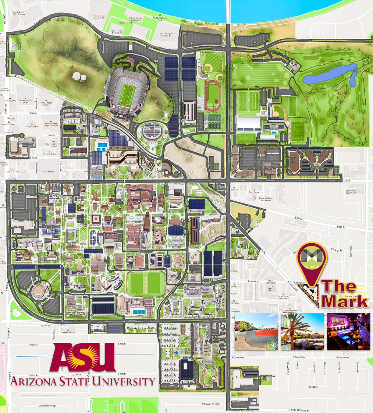 33 Arizona State University Campus Map - Maps Database Source