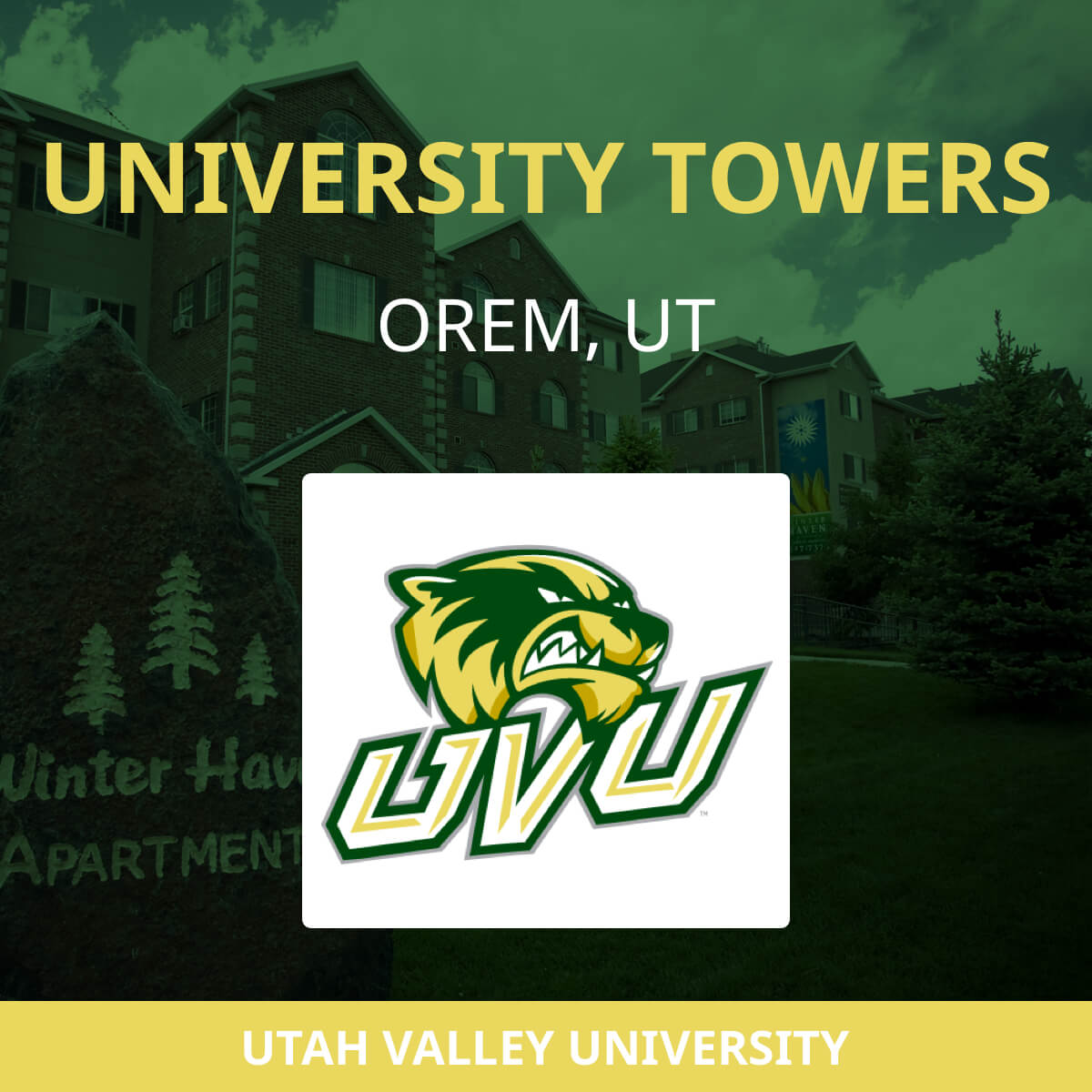 Uvu Off Campus Apartments Orem Ut 84058 University Towers Student Housing